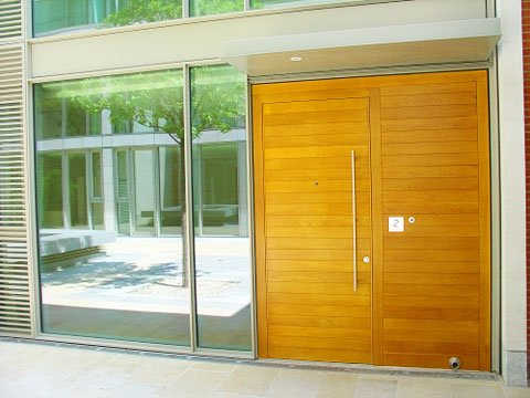 Contemporary timber doors by AJB Group