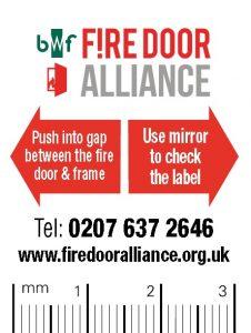 BWF Fire Door Alliance Gap Testers