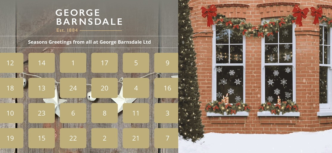 "As part of its commitment to the environment and sustainable manufacturing, George Barnsdale has launched its ""green advent calendar"""