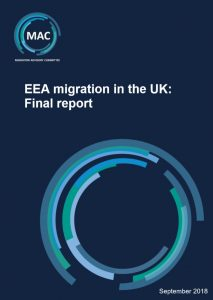 Migration Advisory Committee Report on the impact of EEA migration in the UK