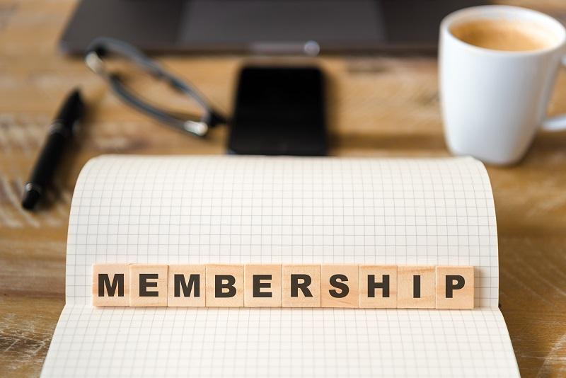 Membership scrabble letters