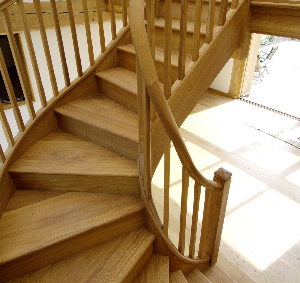 Timber Stairs - cureved design